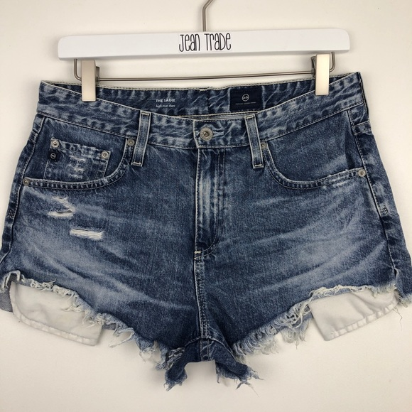 Ag Adriano Goldschmied Pants - AG Adriano Goldschmied The Sadie Short